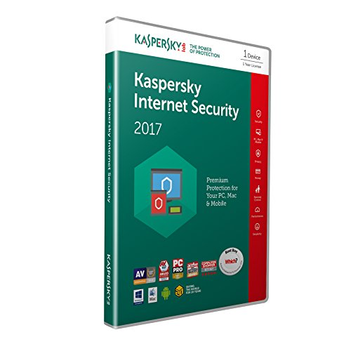 Kaspersky Internet Security 2017 - 1 Device, 1 Year (PC/Mac/Android)