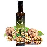 Olio di Noci Alimentare 250 ml - 100% Naturale - Spremuto a Freddo - USA - Bottiglia di Vetro - Cucina Salutare - Ideale per Condimenti per Insalate - Salse - Prodotti da Forno - Walnut Oil