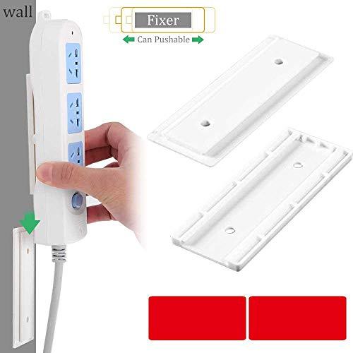 MOGOI Selbstklebende Steckdosenleiste zur Wandmontage, einfachste Halterung für Steckdosenleiste/WLAN-Router und Fernbedienung (Keine unordentlichen Schrauben), kein Überspannungsschutz