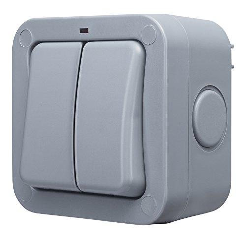Masterplug WP42 Lichtschalter für den Außenbereich, witterungsfest, einfach, 2-Wege, einpolig, Schutzklasse IP66, 20A