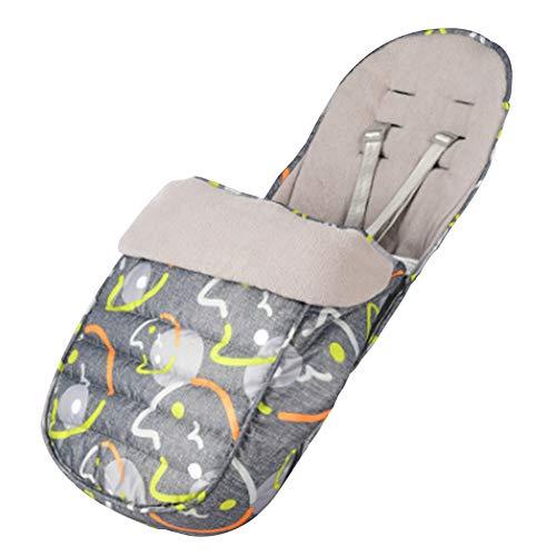 Fußsäcke für Kinderwagen, Fairy Baby Universal Fußsack mit Fleece Gefüttert, Wasserdicht und Winddicht, Geeignet für Babyschale,Sportwagen,Buggys