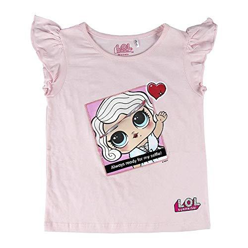 Cerdá Camiseta Manga Corta Premium LOL, Rosa (Rosa C07), 10 años para Niñas