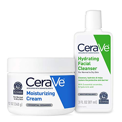 Price comparison product image CeraVe Moisturizing Cream and Hydrating Face Wash Trial Combo / 12oz Cream + 3oz Travel Size Cleanser