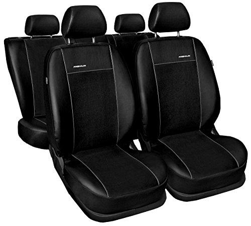 Carpendo Sitzbezüge Auto Set Autositzbezüge Schonbezüge Schwarz Vordersitze und Rücksitze mit Airbag System System - Premium B