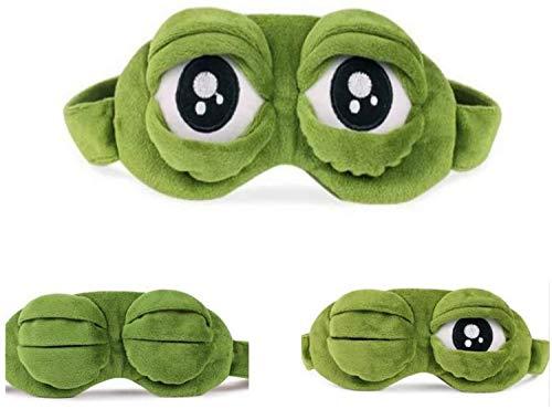 Máscara de ojo / gafas de sueño, CLKJCAR Rana Máscara de ojo, correas ajustables para los hombros y bolsillos interiores para amigas, hombres, mujeres, familias y niños (protección para los ojos)