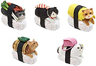 Clever Idiots Nekozushi Sushi Cat Keychain, Version 1 - Blind Box Includes 1 of 5 Collectable Figurines - Features a Detachable Keyring - Authentic Japanese Design - Durable Plastic