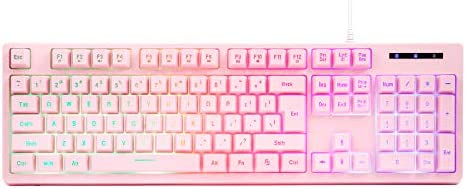 CQ104 Gaming Keyboard USB Wired Floating Keyboard Quiet Ergonomic Water Resistant Mechanical product image