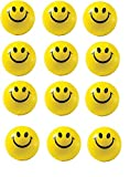Ayat Retail | Yellow Smiley Emoji Ball | Stress Ball | Stress Buster | Pack of 12 Pieces | Happy...