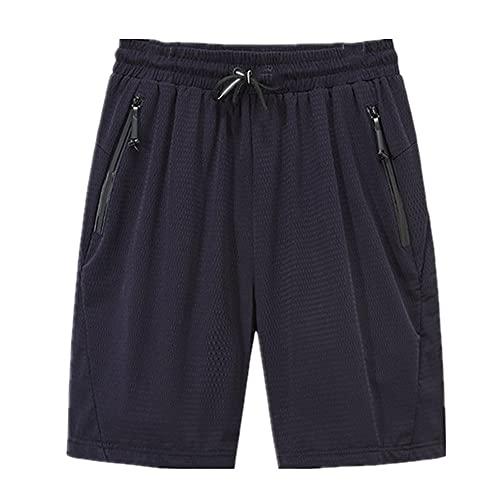 N\P Pantalones cortos de hombre de verano de tamaño grande Cothing Negro