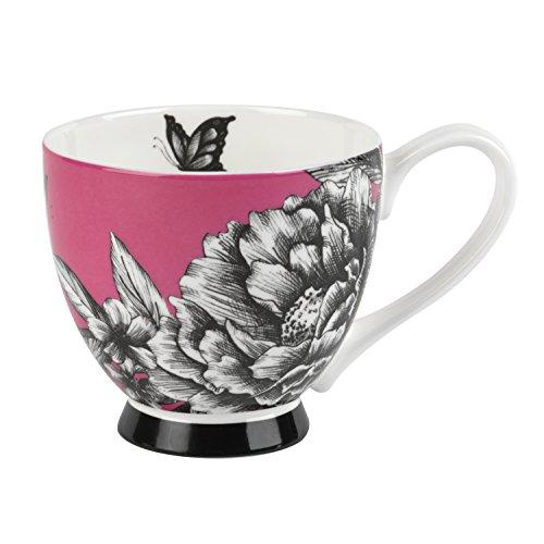 Inspire Zen Garden Red Bone China Footed Mug
