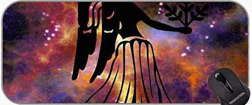 Große XXL-rutschfeste Gummi-Basis Mousepad mit genähten Kanten Astrologie, Astrologie, Astrologie, Astrologie Themen von rutschfestem Gummi Mousepad