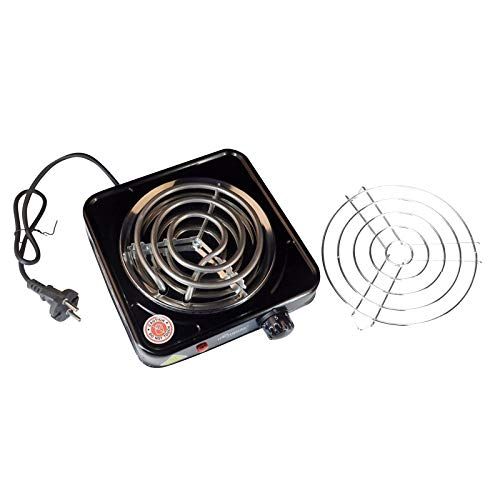Single Hot Plate Electric Coil Stove,Portable 1000 Watt Cooktop Countertop Kitchen Burner with Adjustable Temperature Control,Electric Stove Heating Electric Stove Multifunctional Electric Stove