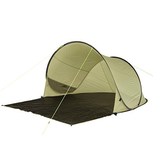10T Pop-Up Strandmuschel Trinidad UV 80 Strandzelt 3 Mann Sonnenschutz XL Familien Windschutz Zelt