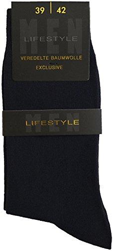 Esda - Herren Business Socke Lifestyle schwarz 3er Pack (Anzug-Socke) 43/46