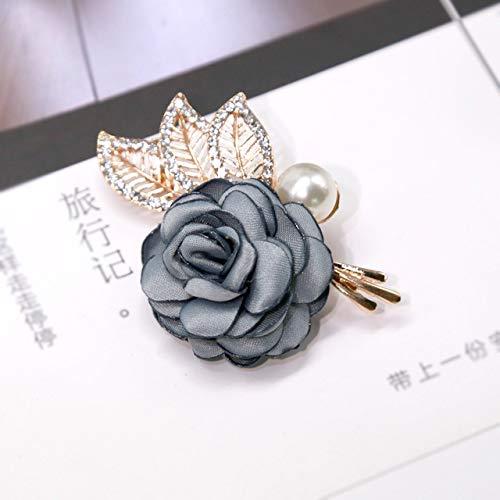 XZFCBH broche met bloem, van stof, modieus, voor dames