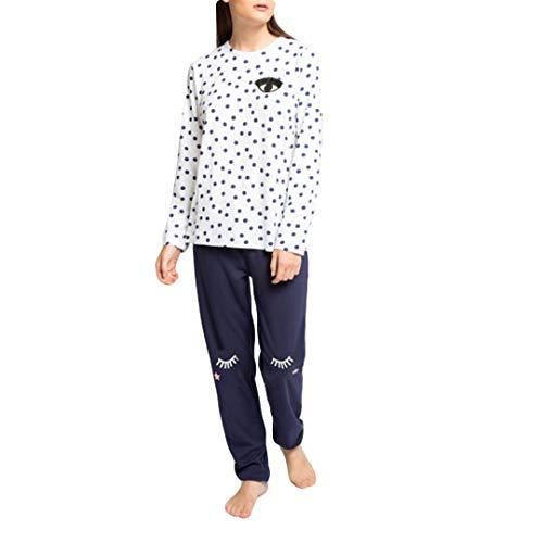 GISELA - Pijama Chica Mujer Color: Topo Talla: Large