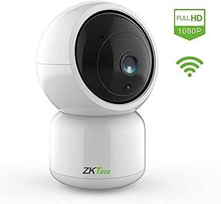 Camara Vigilancia WiFi Interior -ZKTeco- Cámara Compatible con Alexa WiFi FHD 1080P 360° Control Remoto- Audio Bidireccional Detección Movimiento Alarma - iOS&Android