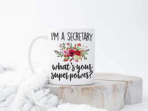 Secretario regalo Navidad regalo para secretaria secretaria taza de café secretaria divertida taza blanca de cerámica