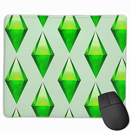 GXGZ Mouse Pad Custom,The Sims Plumbob Non-Slip Rubber Gaming Mouse Pad Rectangle Mouse Mat for Computers Laptop 9.8' x 11.8'
