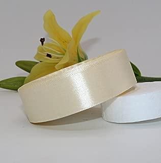 Beautiful Ivory Silk Satin Ribbon for New Year Christmas Gift 25 Yardslot 25MM