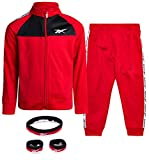Reebok Baby Boys' Tracksuit Set with Jacket and Joggers, True Red, Size 3T