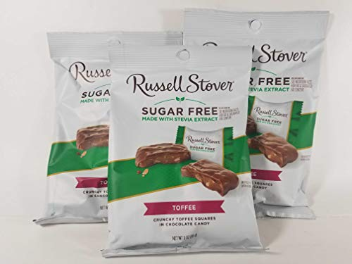 Russell Stover Sugar Free Toffee Squares 3oz (Pack of 3) from