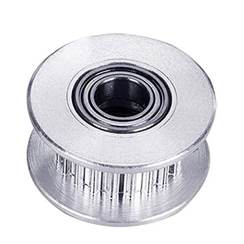 ZHAOYANG 1Stücke 20 Zähne 5mm Bohrung Aluminiumlegierung, Belt Pulley Wheel GT2 2GT Zahnriemen Spannrolle Riemenscheibe für 3D Drucker 6mm Breite Zahnriemen (20 Zähne, Bohrung 5 mm mit Zahn)