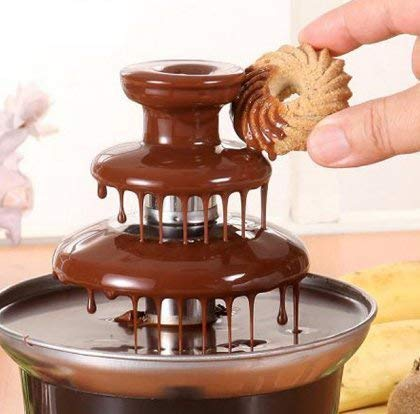 SDE Mini Creative Design Chocolate Fountain for Melting Chocolate with Heating Fondue Machine