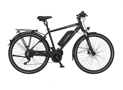 FISCHER Herren - Trekking E-Bike ETH 1861.1, Elektrofahrrad, schwarz matt, 28 Zoll, RH 50 cm, Mittelmotor 80 Nm, 48 V Akku