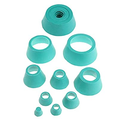 2 Set Filter Adapter Cone Rubber Stopper Buchner Funnel Flask Filtration Set from gazechimp