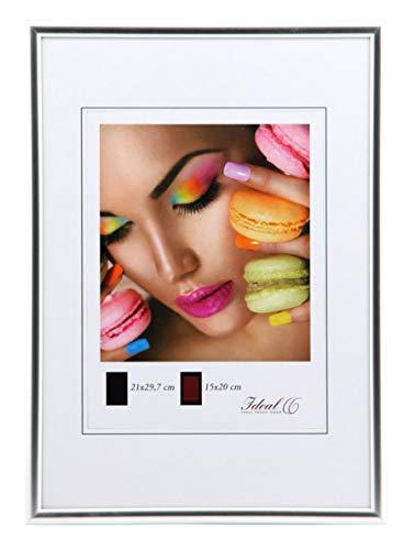 Ideal Trend Kunststoff Bilderrahmen 10x15 cm bis 50x70 cm Bilder Foto Rahmen: Farbe: Silber   Format: 50x60