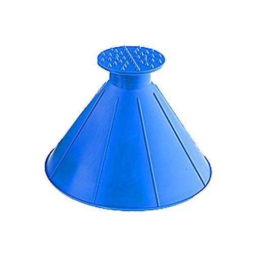 Cocohot Eiskratzer, Magische Windschutzscheibe Eiskratzer für Autofenster Eiskratzer, Eiskratzer Schnee Reinigung Werkzeug (Blau)