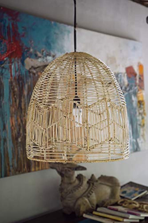 Morgan (Natural Rattan) Monnarita LAMPE, 100% natürliches Rattan, Moderner, NATüRLICHE FARBE, braun, Stilvoller RATTANLAMPE Monnarita im Boho-Stil passt perfekt zu Ihrem Esszimmer, Wohnzimmer