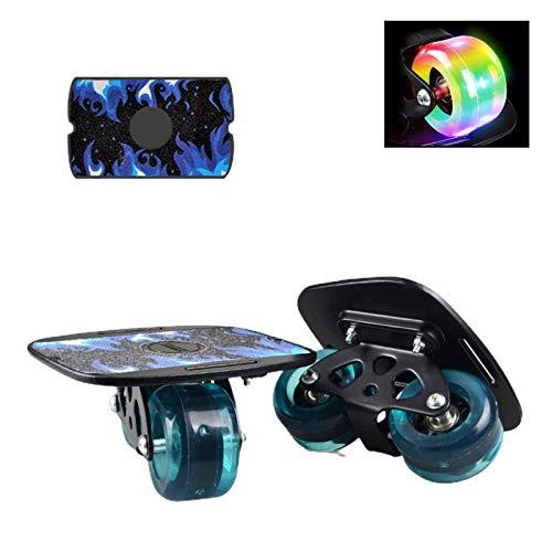 mementoy Drift Freeline Skates Skateboards Mit Aluminiumlegierung Platte, Hoch Belastbare PU-Räder, 608 Lager