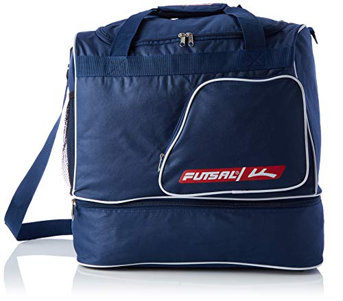 Futsal Sporttasche Känguru-Tasche für Kinder, Einheitsgröße, Marineblau/Weiß