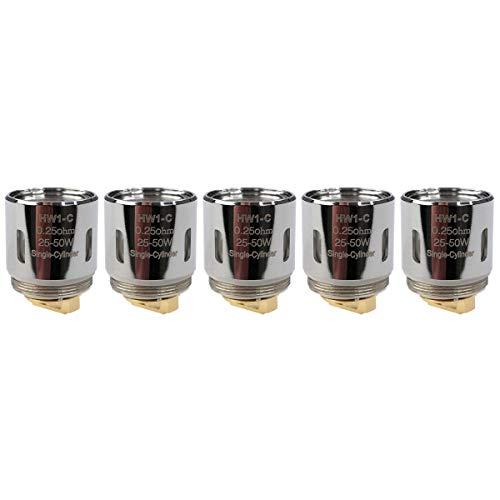 Eleaf HW1-C Ceramic Coils (0,25 Ohm), Kanthal, Riccardo Verdampferköpfe für e-Zigarette, 5 Stück