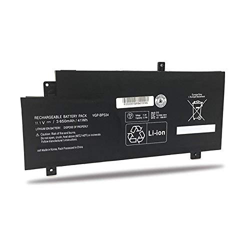 Huiyuan 41Wh 11.1V VGP-BPS34 VGP-BPL34 Laptop Accessories Compatible for Sony Vaio Fit 15 Touch SVF15A1ACXB SVF15A1ACXS SVF14AC1QU