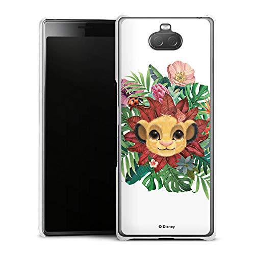 Hülle kompatibel mit Sony Xperia 10 Handyhülle Case Disney Simba Blume