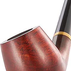 Joyoldelf Tobacco Pipe, Churchwarden Rosewood Smoking Pipe with Pipe Stand, Pipe Bit, 3-in-1 Scraper, Pipe Filter, Cork Knocker, Metall Ball & Delicate Gift Box #3