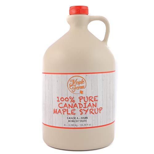 Ahornsirup Grad A - Dark - 4 Liter (5,28 Kg) - GLUTEN FREE - VEGAN - kanadischer ahornsirup - pure maple syrup - reiner ahornsirup - pancake sirup - ahornsirup Kanada