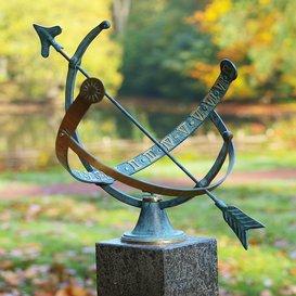 Rêve Globe Cadran solaire de jardin en bronze – Vincente, bronze