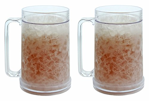 Double Wall Gel Frosty Freezer Mugs 16oz
