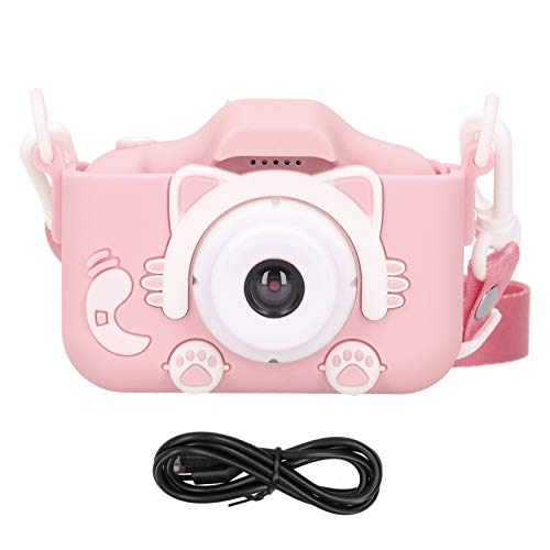 Mxzzand ABS Silicone Environmentally Friendly Small Size Children Camera Toy Digital Camera The Best Thanksgiving/Christmas/Birthday Gift for Kids(Pink)