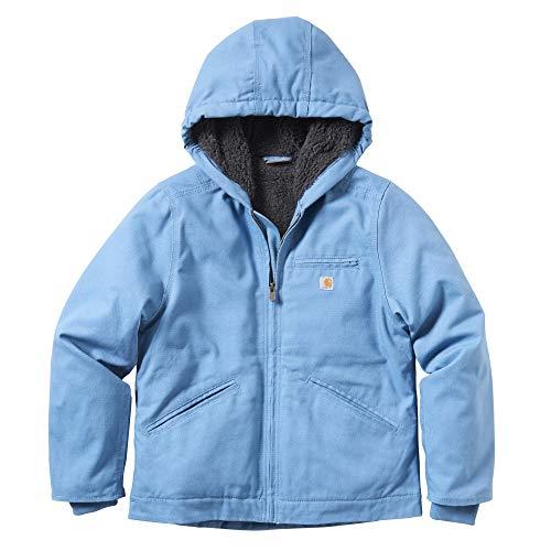 Carhartt Girls' Big Sherpa Lined Jacket Coat, Sierra Blue Heaven, Medium