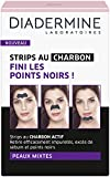Diadermine - Strips au Charbon Actif Points Noir/Sébum Peaux Mixtes - 6 strips