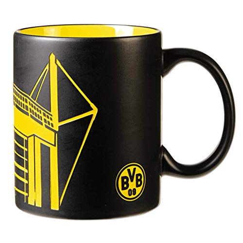 Borussia Dortmund, BVB-Tasse mit Stadion-Silhouette, Schwarz/Gelb, 0