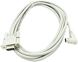 Replacement Allen Bradley Micrologix Programming Cable 1761-CBL-PM02 for 1000, 1100, 1200, 1500 Series with Round 90 Degree End