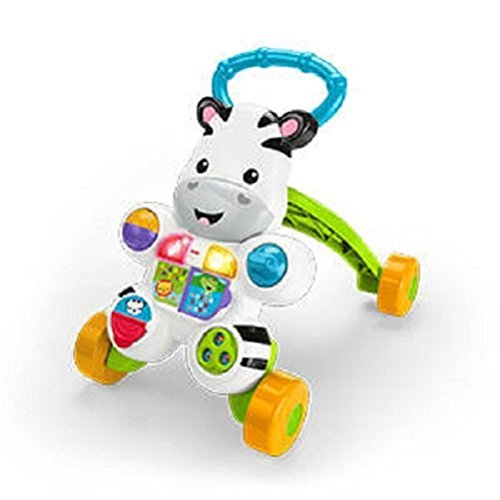 Fisher Price-DLF00 Zebra de Juguete, Multicolor (Mattel 900 DLF00)