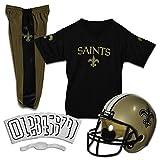 Franklin Sports New Orleans Saints Kids Football Uniform Set - NFL Youth Football Costume for Boys & Girls - Set Includes Helmet, Jersey & Pants - Small