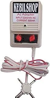 Kebilshop Multi Volt,1.5V, 3V, 4.5V, 6V, 7.5V, 9V, 12V. 500mA Power Adapter with Multi pin.